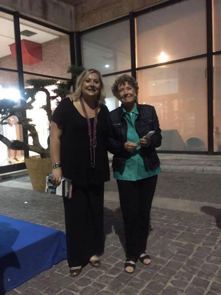 Il Presidente Ilaria Pallocchini con Dacia Maraini
