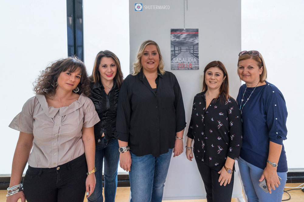 alcune socie di Sabaudia Culturando con il Presidente Ilaria Pallocchini e il Vice Presidente Laura Plata