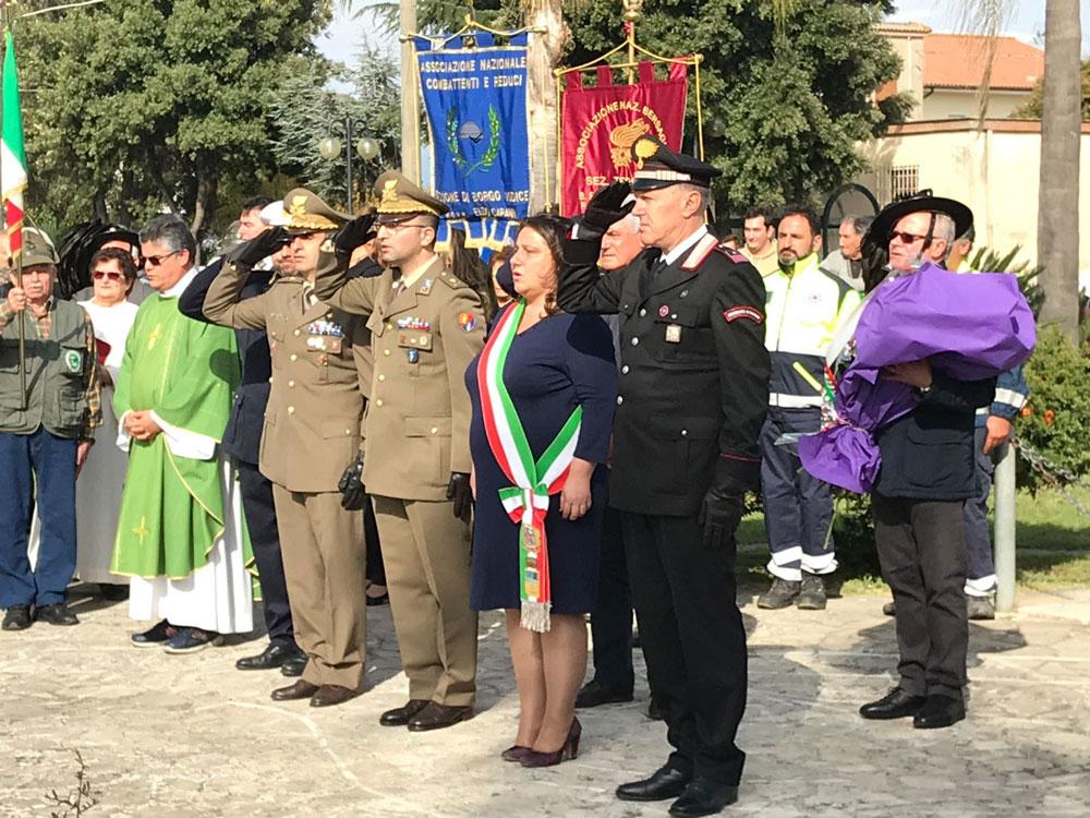 Celebrazioni della Giornata dell'Unità Nazionale e delle Forze Armate a Borgo Vodice e San Donato