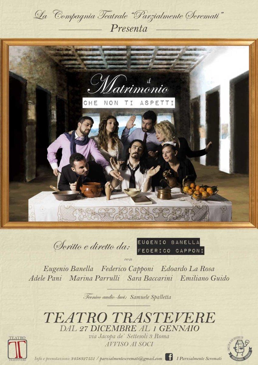 Il Matrimonio che non ti aspetti - Teatro Trastevere - Roma