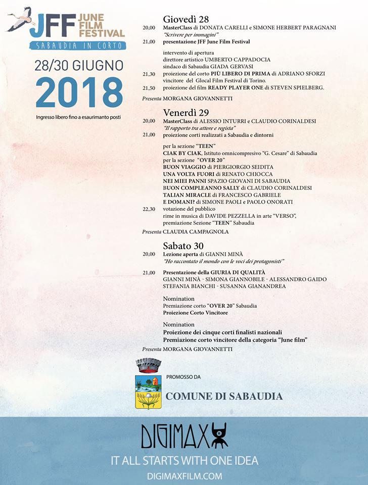 June Film Festival – Sabaudia in Corto 2018