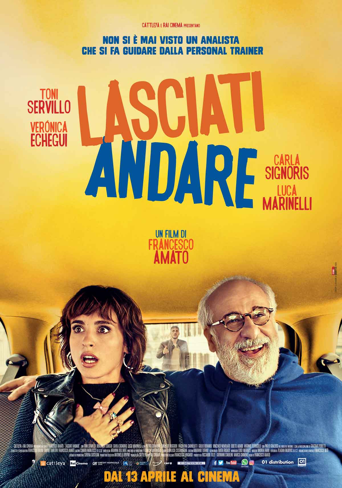 Lasciati andare, un film di Francesco Amato con Toni Servillo, Verònica Echegui, Carla Signoris, Luca Marinelli, dal 13 aprile al cinema.