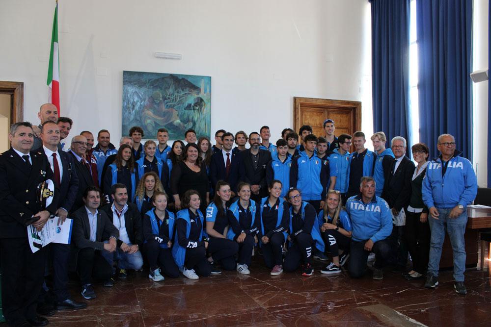 Conferenza stampa Nazionale di canottaggio per gli Europei Junior