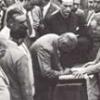 Firma della pergamena del Duce
