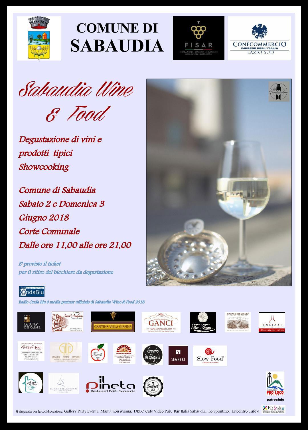 SABAUDIA WINE & FOOD 2018