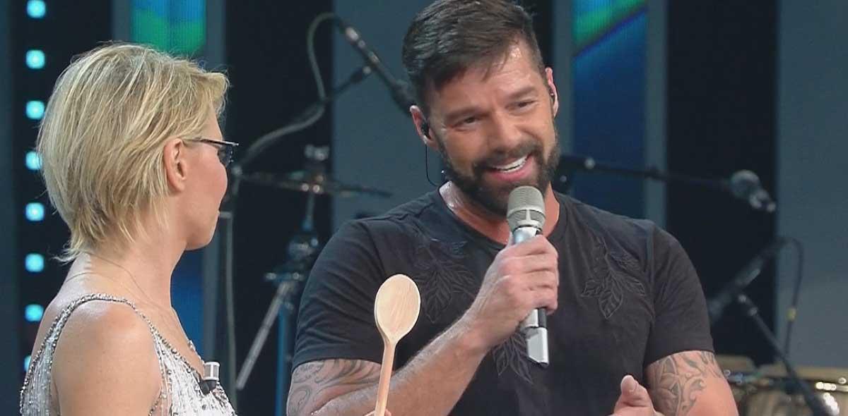 Maria De Filippi e Ricky Martin