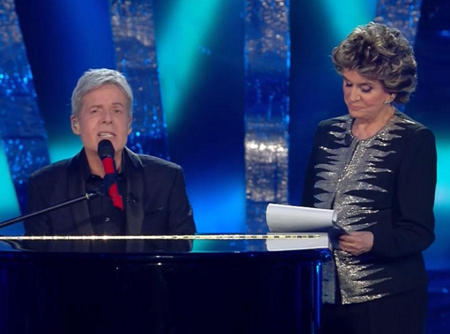 Claudio Baglioni e Franca Leosini
