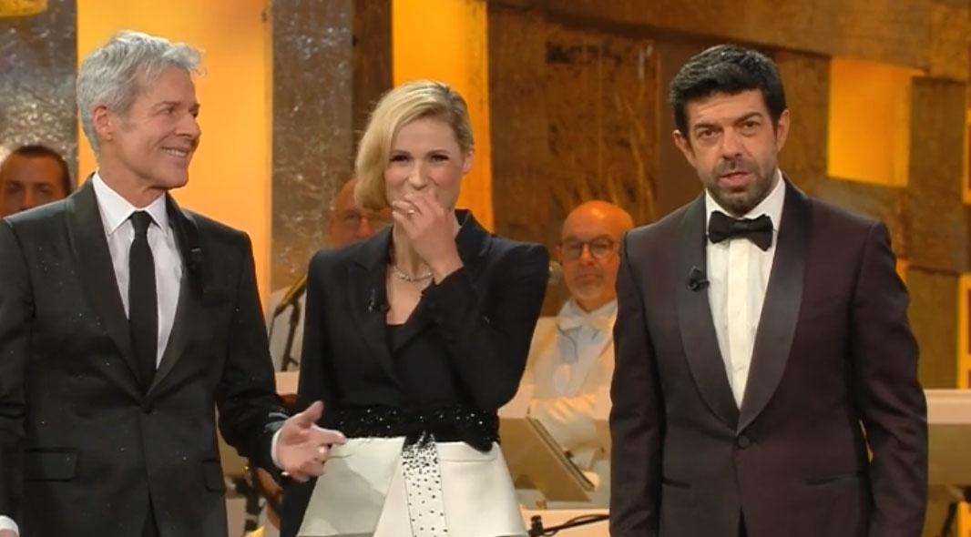 Claudio Baglioni - Michelle Hunziker - Pierfrancesco Favino