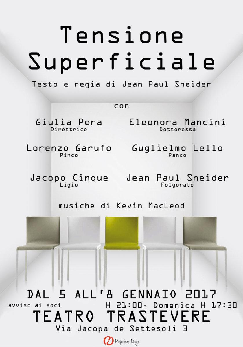Tensione Superficiale di Jean Paul Sneider al Teatro Trastevere