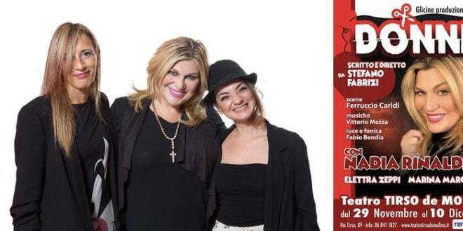 """""""Donne"""" con Nadia Rinaldi al Teatro Tirso de Molina, dal 29 novembre"""