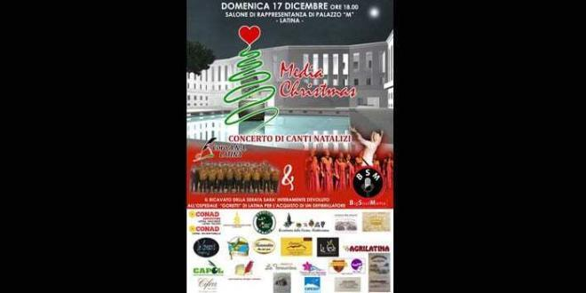 """Media Christmas"" evento benefico a favore dell'ospedale ""Goretti"" di Latina"