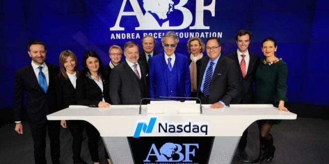 Andrea Bocelli sulla stampa mondiale per l'apertura del Nasdaq