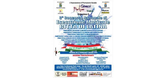 """Torna il Concorso Nazionale di Esecuzione Musicale """"Città di Latina"""""""