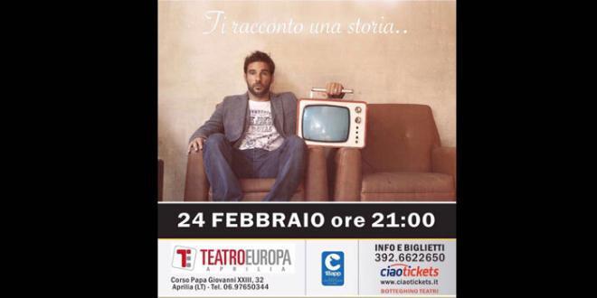 """Edoardo Leo in """"Ti racconto una storia"""" al Teatro Europa di Aprilia"""