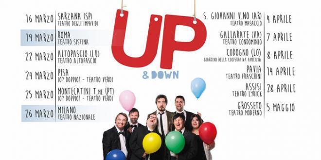 Paolo Ruffini con il nuovo spettacolo UP&Down in scena al Teatro Sistina di Roma