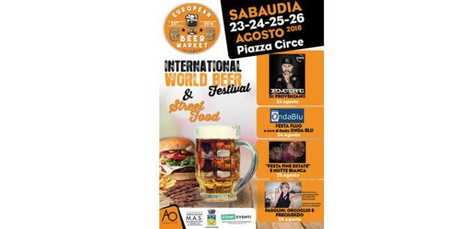 European Beer Market: dal 23 al 26 agosto in Piazza Circe a Sabaudia