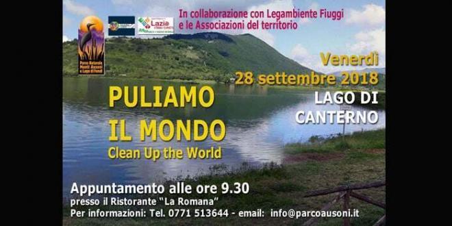 """""""Puliamo il mondo"""" il Parco Ausoni presente venerdì ai laghi di Canterno e San Giovanni Incarico"""