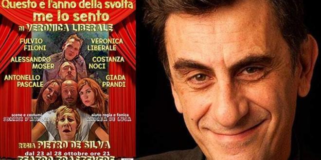 """""""Questo è l'anno della svolta, me lo sento""""di Pietro De Silva in scena al Teatro Trastevere"""