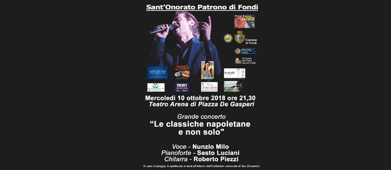 a sant'onorato grande concerto gratuito a fondi in piazza de gasperi