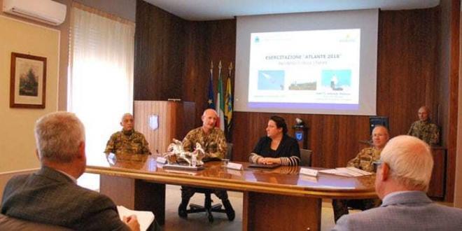 "Sabaudia. Esercitazione ""Cluster Action 2018"" del COMACA"