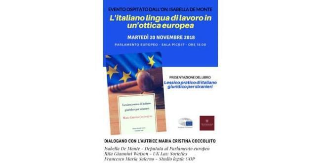 Il Lessico pratico di italiano giuridico per stranieri al Parlamento europeo
