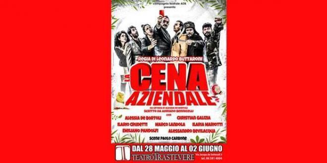 """""""La cena aziendale"""" di Adriano Bennicelli al Teatro Trastevere di Roma"""