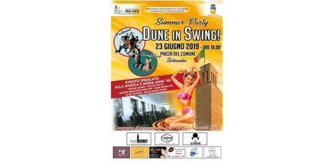 Dune in Swing: domenica 23 giugno Piazza del Comune