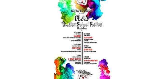 Torna a Roma PLAY, Il Festival delle Scuole di Teatro di Roma – Laboratori in scena