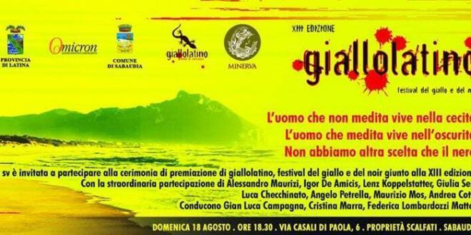 Sabaudia. Dal 18 al 20 agosto la XIII edizione del festival del giallo e noir