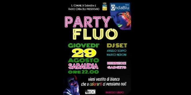 """""""Party Fluo 2019"""" di Radio Onda Blu: giovedì 29 agosto Piazza del Comune"""